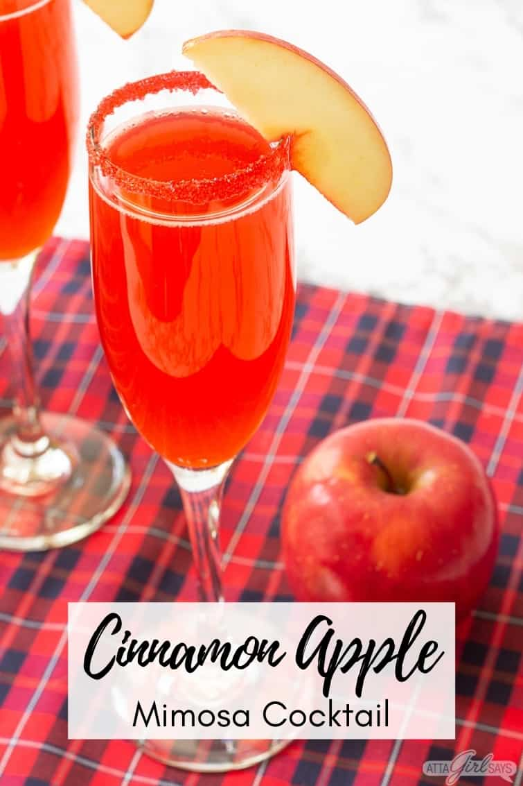 cinnamon apple champagne cocktail