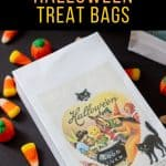 candy spilling out of a treat bag