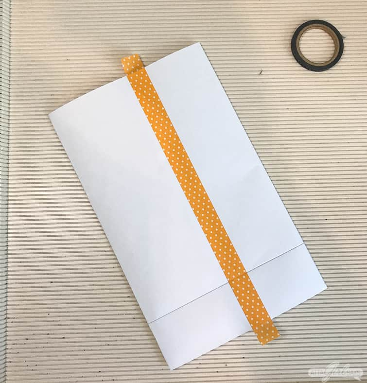 making a bag out of a piece of printer paper