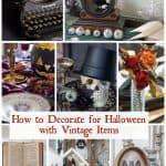 collage of vintage Halloween decorating ideas