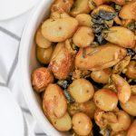 bowl of crispy roasted potatoes