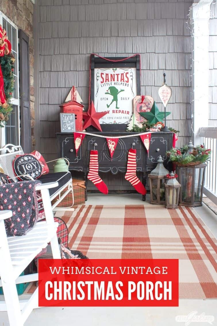 vintage Christmas porch decorations