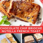 collage showing how to make Nutella stuffed French toast