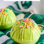 green hot cocoa bombs for St. Patrick's Day