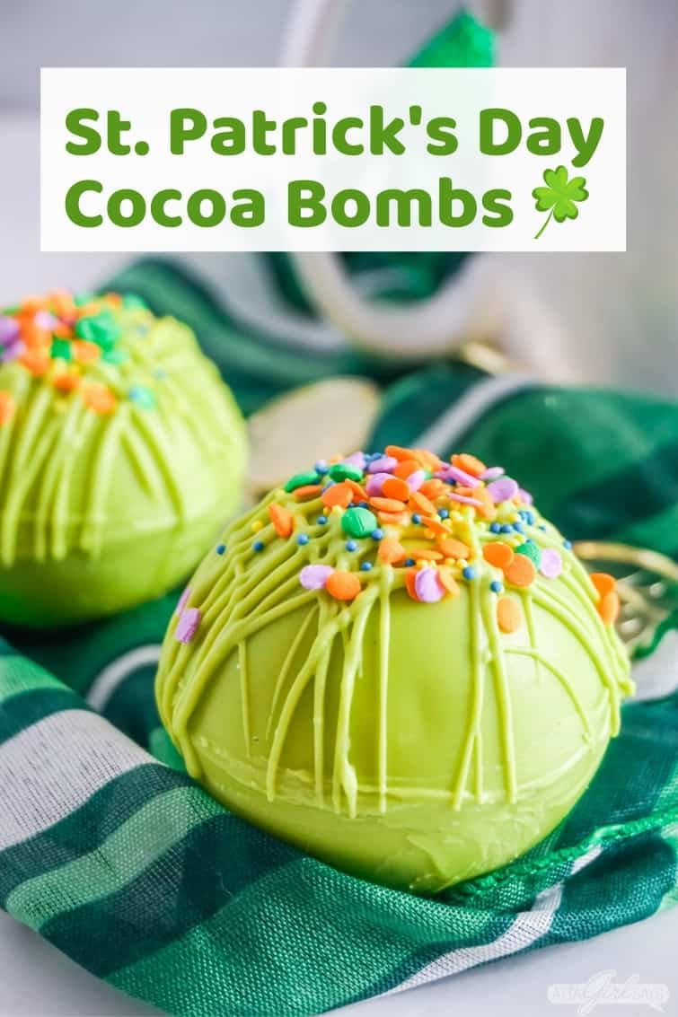 green hot cocoa bomb