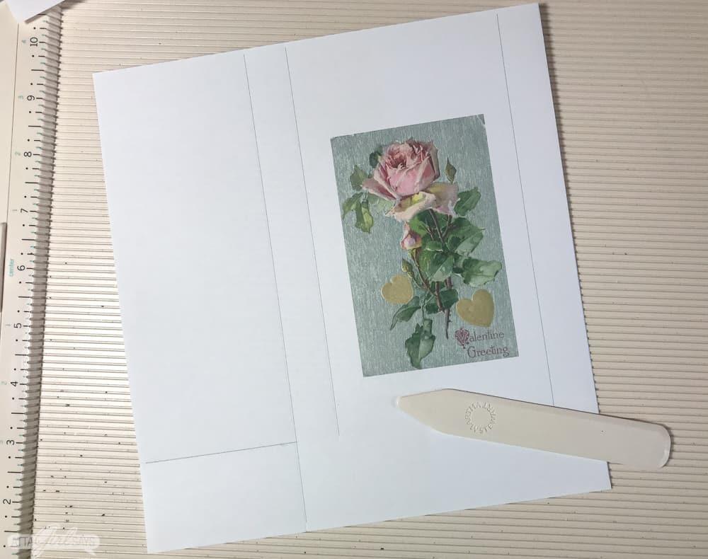 vintage floral image printed on paper