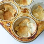cirspy wontons in a muffin pan