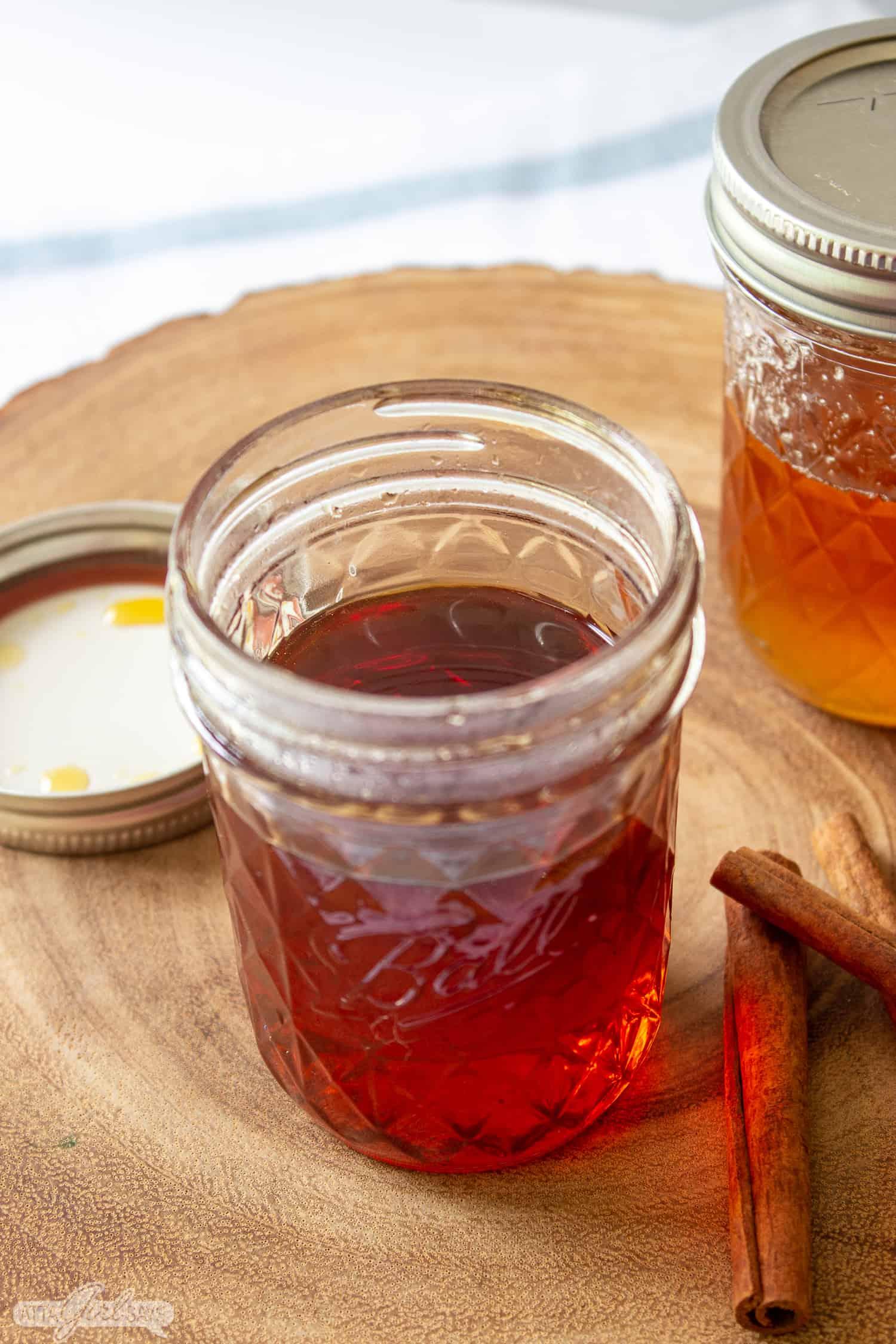 jar homemade coffee syrup