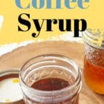 two jars of coffee syrup