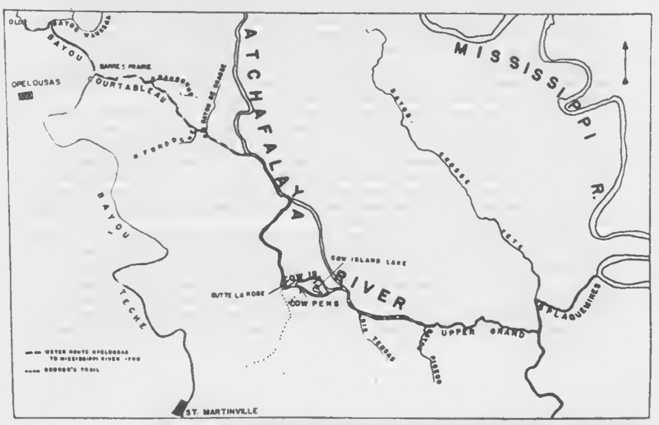 Opelousas Louisiana Map.A Water Route From The Opelousas To The Mississippi In 1791 The