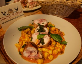 Rabbit Saltimbocca, with gnocchi and fresh herbs, Chef Chris Carriker of 23 Hoyt