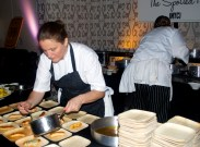 My culinary crush: April Bloomfield. I actually got giddy and a little giggly when I talked to her.