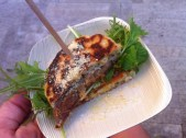 State Bird Provisions made a corn cake sandwich with pork belly inside