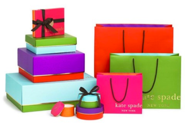Designer Kate Spade charges a small fee for gift boxes