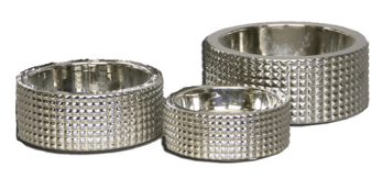 Nickel Plated Pet Bowls