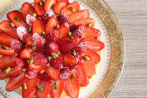 Tarte aux fraises, by me