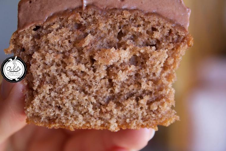 Cupcakes ganache montée chocolat-framboise