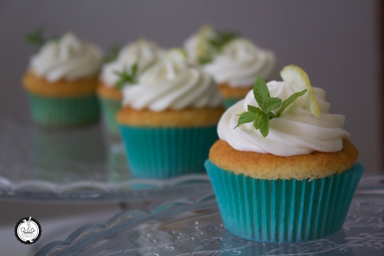 Cupcakes fraîcheur ganache montée citron-menthe