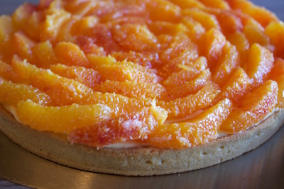 Tarte à l'orange sanguine de Hugues Pouget