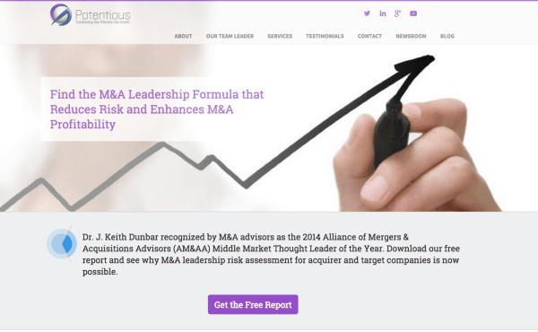 Consultant website, lead generating content