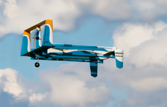 Amazon also use drones for delivering packages to private people. The system Prime Air, which is still under development, has the potential to deliver packages within 30 minutes or less. Read more here: http://www.amazon.com/b?node=8037720011