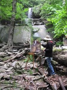 painting at Ashley Falls