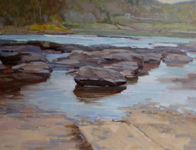 """""""Skinner's Falls,"""" a landscape painting by Judith Reeve"""