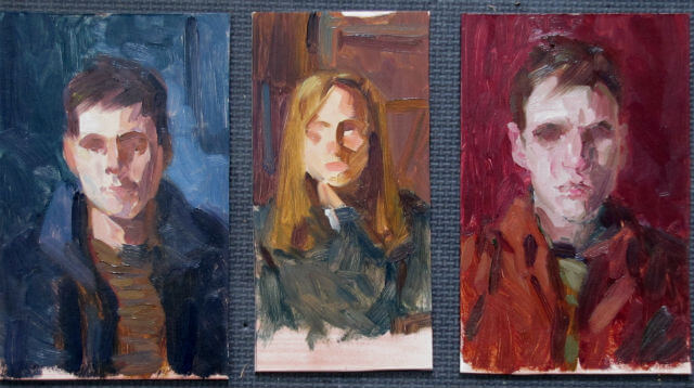 Portrait hue studies by Judith Reeve