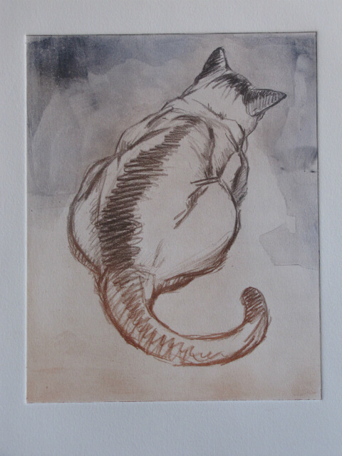 """Cat,"" a color print by Judith Reeve"