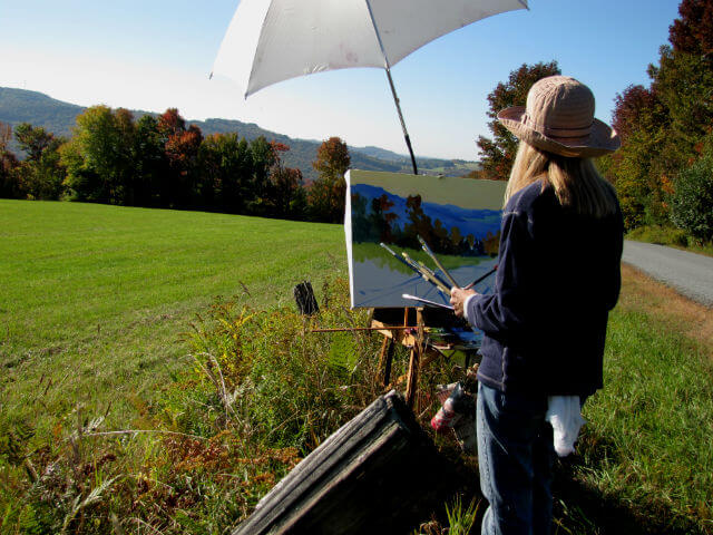 Judith Reeve landscape painting in Fremont, NY