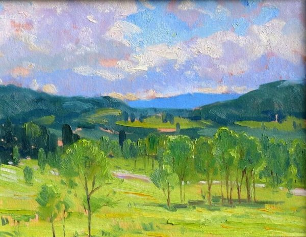 A Beautiful Morning, a landscape painting by Judith Reeve