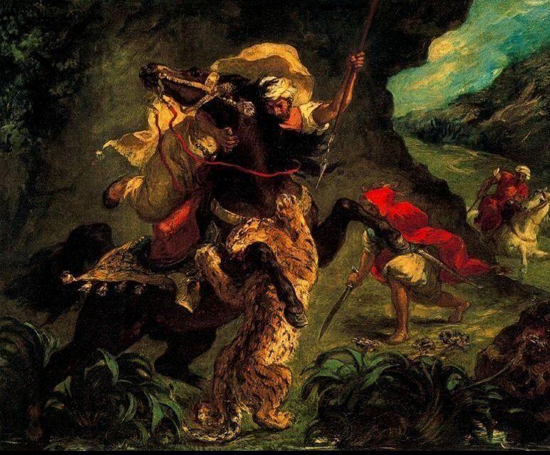 Eugene Delacroix, Tiger Hunt