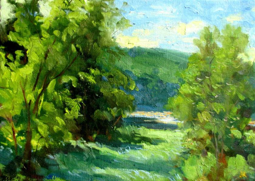River Foliage, a landscape painting by Judith Reeve