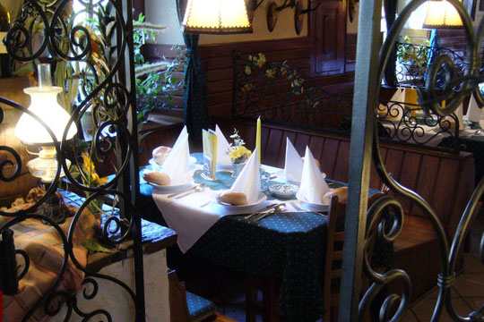 A typical austrian Restaurant in Weyregg am Attersee