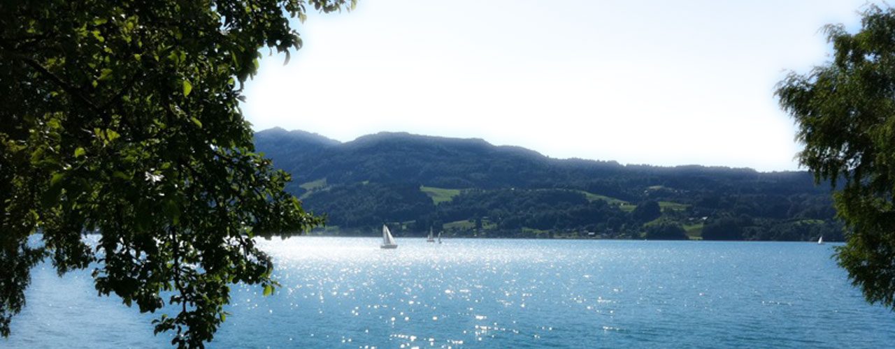 Lake Attersee with sailor