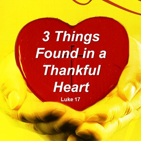 3 Things Found in a Thankful Heart