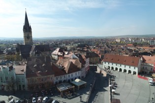 Views to old town from a clock tower.