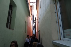 """Strada Sforii (""""String Street"""") is believed to be one of the narrowest streets in Europe."""