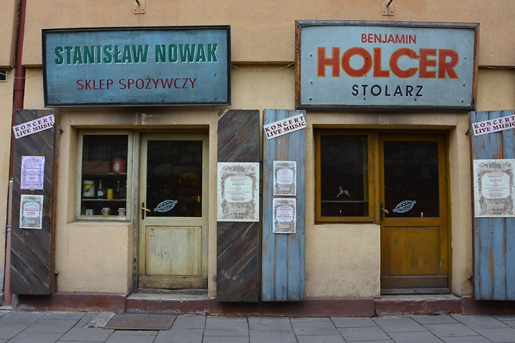 Old shops that has been turned into bars in Kazimierz