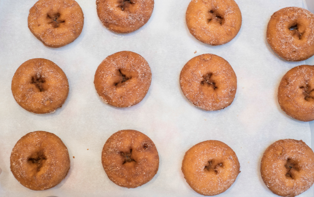 Warm cider donuts are made on-site at the Apple Barn.