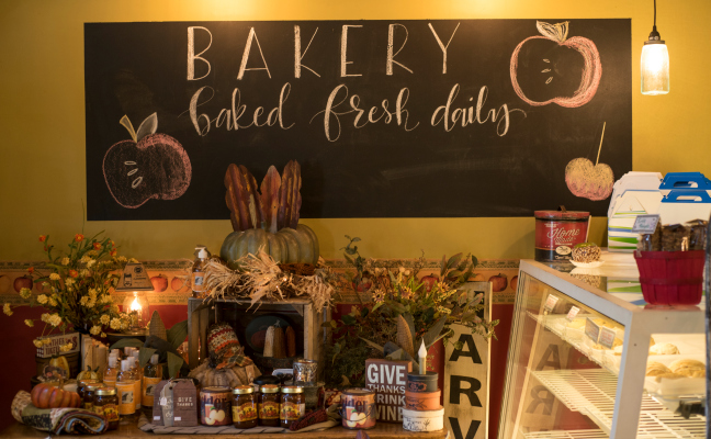 No trip is complete without a stop at the bakery.