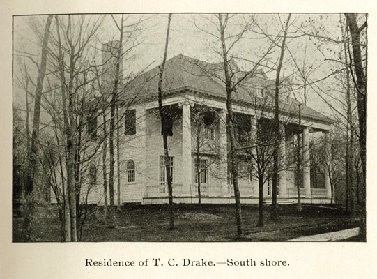 Aloha Lodge, built in 1901 for Chicago hotelier Tracy Drake, was Shaw's first commission on Geneva Lake.