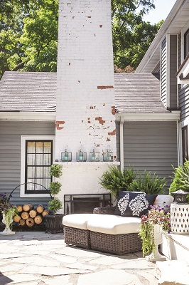 The focal point of the terrace is its fireplace, which provides the perfect place to curl up on cool fall evenings.