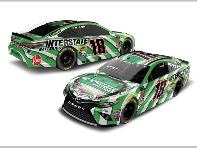 Kyle Busch 2018 Interstate Batteries 1:24 Action Nascar Diecast Car - At The Track Racing ...