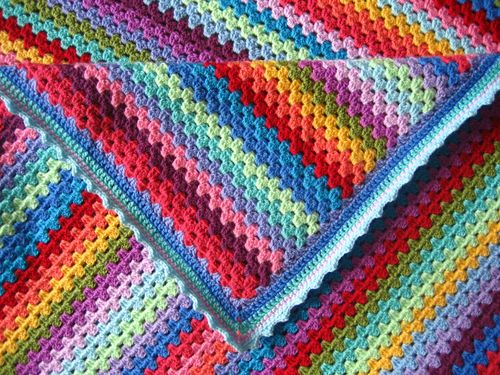 Knit Sampler Afghan Pattern