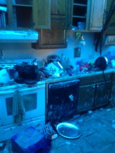 After Fire was put out - kitchen