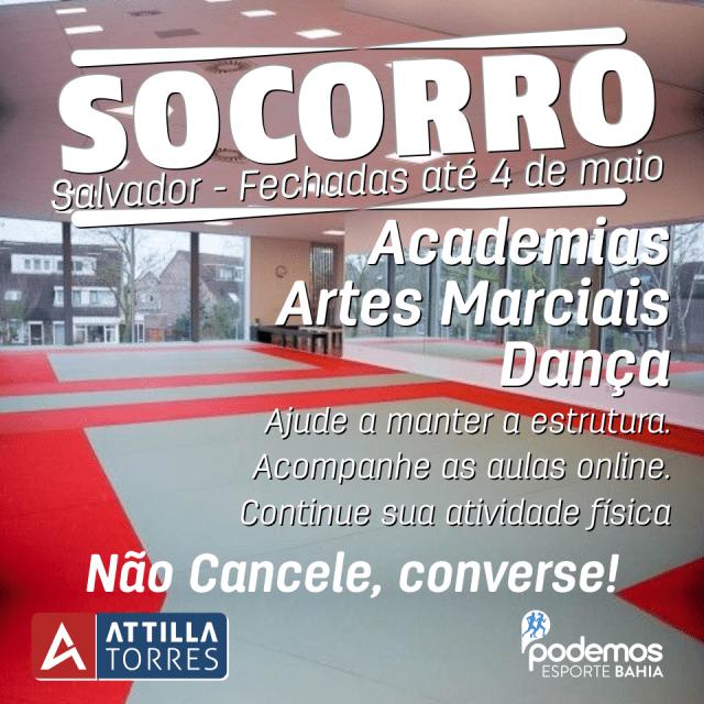 Socorro – Academias fechadas em Salvador até 18 de maio (data atualizada em 04/05/2020)