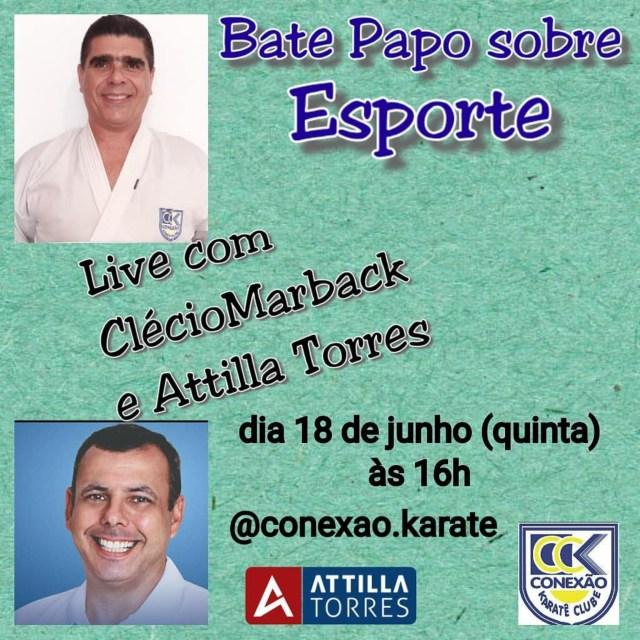 Live Attilla Torres Clecio Marbak Esporte