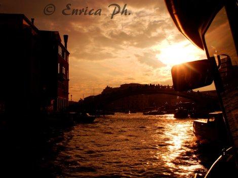 Vaporetto e tramonto
