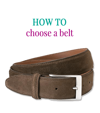 How to pick a belt by Attire Club